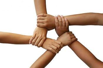 Zusammen Hand in Hand